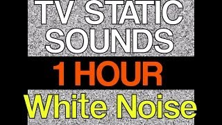 """1 Hour of TV Static Noise 60 Minutes HD 1080p """"TV Static Sounds"""" """"Sleep Video"""""""