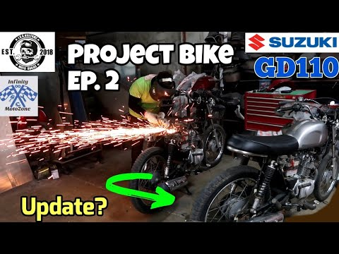 SUZUKI GD110 PROJECT BIKE EPISODE 2 (HYBRID-SCRAMBLER UPDATE)