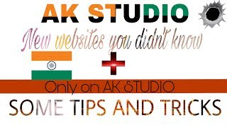 ●●♤AK STUDIO||#2 NEW WEBSITES YOU DID NOT KNOW+TWO TRICKS□□■
