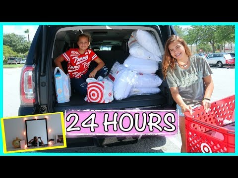 REDECORATING MY ROOM IN 24 HOURS   SISTERFOREVERVLOGS #563
