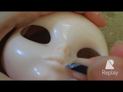 Julia Cabral Dolls - Carved mouth 2 - Blythe lips: detailing (Julia Cabral)