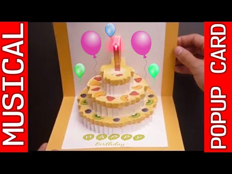 Amazing 3D POP-UP MUSICAL Birthday Card | RoyTechTips