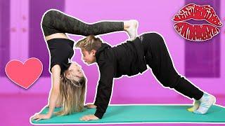 Couples Yoga CHALLENGE w/ My CRUSH | Gavin Magnus ft. Jatie Vlogs