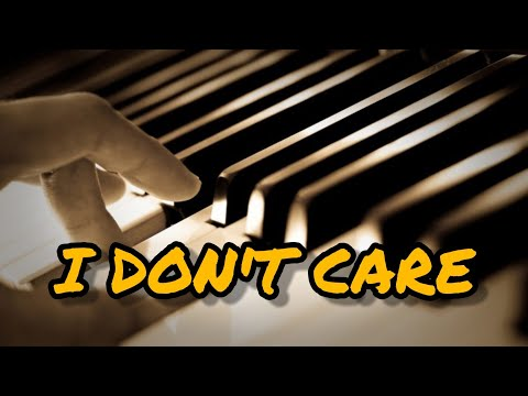 I DON'T CARE | Ed Sheeran & Justin Bieber | Piano Sheet Music