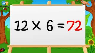 Learn Multiplication Table of Twelve 12 x 1 = 12 - 12 Times