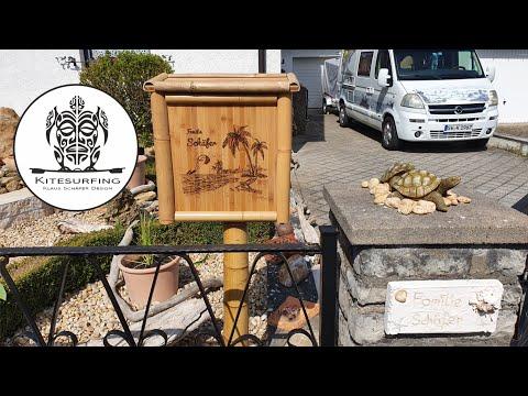 Mediterraner Briefkasten aus Bambusholz selberbauen 4.2021