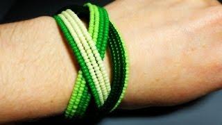 Плетем яркий браслет на пружине - Видео онлайн