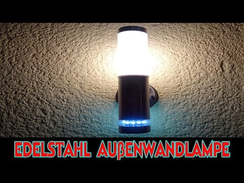 EDELSTAHL LED AUSSENWANDLAMPE LISA FÜR 28 - 34 EURO