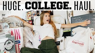 THE BIGGEST COLLEGE HAUL.  EVER.