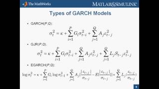 Introduction to Econometrics Toolbox in MATLAB R2008b - Previous Release