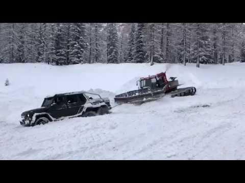 بالفيديو: مرسيدس AMG G63 6x6 تتعرض لموقف محرج على الثلوج