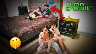 We Spent the Night in FaZe Rug and his Girlfriend's Room & THEY HAD NO IDEA...