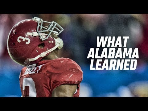 What Alabama learned from its national championship loss