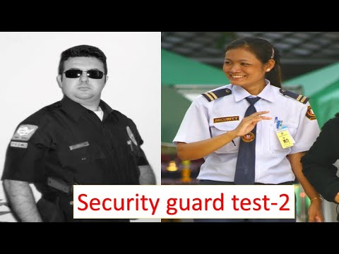 Security guard exam test-2 - YouTube
