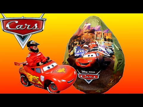 GIANT EGG SURPRISE Opening 100+ Disney Cars Super Giant Golden Surprise Egg Lightning McQueen Videos