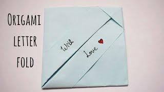 Easy Origami Envelope | DIY Letter Folding Ideas | Easy Origami Note Folding | Fun Crafts Ideas