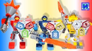 Все рыцари Лего Нексо Найтс: Клэй, Аксель, Мэйси, Аарон, Ланс.