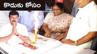 Khaidi No 150 Chirus Mother Cuts CakeMega Star Chiranjeevi Family Watches Khaidi No 150 NH9 News
