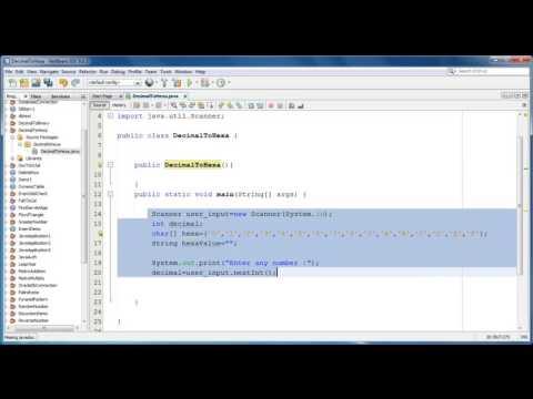 Decimal to Hexa Conversion In Java