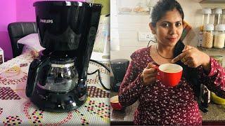 Philips Coffee Maker Unboxing & Demo   Philips HD7431/20 760 Watt Coffee Maker   MOM & STAR !