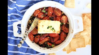 Appetizer Recipe: EASY Mediterranean Baked Feta By Everyday Gourmet With Blakely