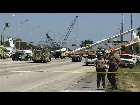 US - Several dead, injured after pedestrian bridge collapses in Miami