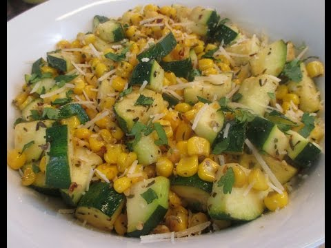 Video Zucchini and Corn Salad (Healthy)