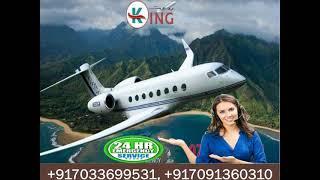 King Air Ambulance Service in Varanasi with Classy Medical Tool