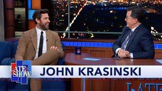 John Krasinski Teaches Stephen Colbert How To Do A Proper Boston Accent