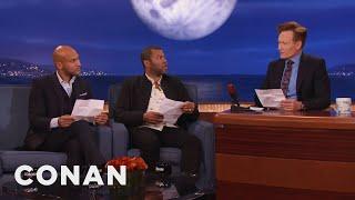"Keegan-Michael Key, Jordan Peele & Conan Reenact A Scene From ""Keanu""  - CONAN on TBS"