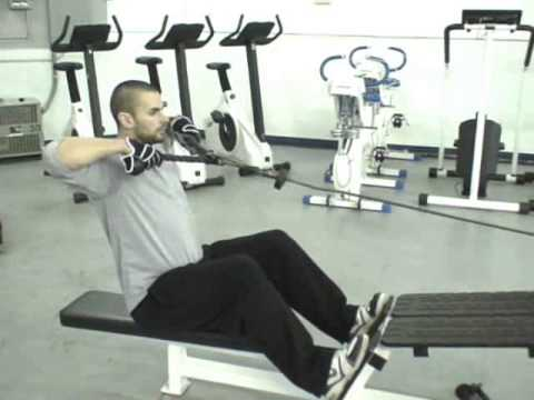 Seated Cable Row to Neck - Upper body posterior chain