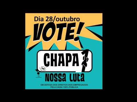 Nesta quarta, 28/10, vote Chapa 1 - Nossa Luta!