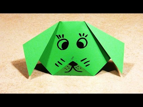 PAPER CRAFTS FOR KIDS Easy Origami For Kids Origami Dog DIY Paper Origami Dog