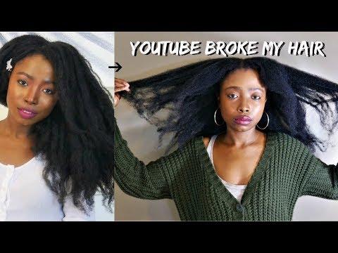 YouTube Broke My Hair | Devastating Set Back | Natural Hair Growth Journey
