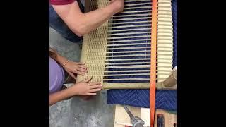 Danish Modern Easy Chair Hans Wegner CH25 Seat Weaving Pt. 1