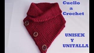 cuello a crochet para mujer y hombre - tutorial - tejido - ganchillo f8078845977