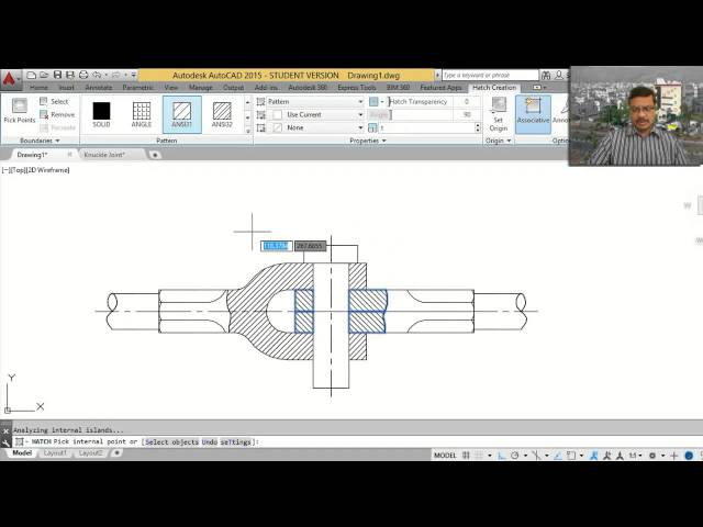 Knuckle-joint-autocad-tutorial