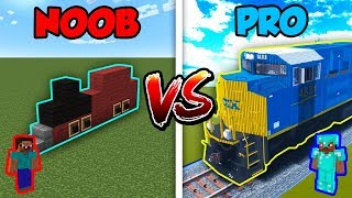 Minecraft NOOB vs. PRO: TRAIN in Minecraft!