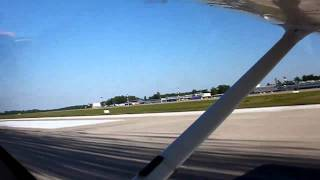 preview picture of video 'Cessna 172 take-off from Zagreb'