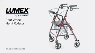 Lumex Four Wheel Hemi Rollator Youtube Video Link
