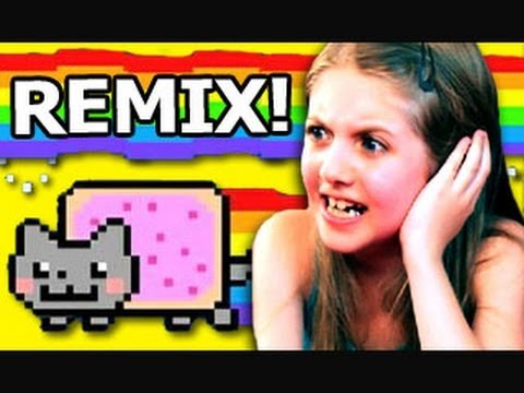Děti reagují na Nyan Cat (remix)