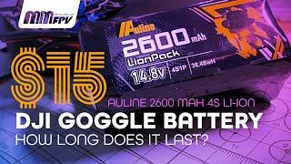 $15 Auline Li-Ion DJI Goggle Battery: How long does it last?