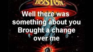 Boston  Something About You With Lyrics