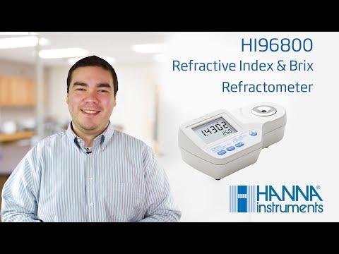 HI 96800 Élelmiszeripari refraktométer a törésmutató közvetlen méréséhez