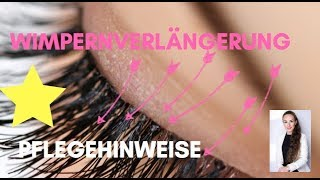 WIMPERNVERLÄNGERUNG!? - ALLE Informationen über die richtige Pflege von KÜNSTLICHEN Wimpern
