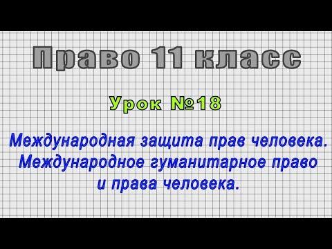 Право 11 класс (Урок№18 - Международная защита прав человека. Международное гуманитарное право.)