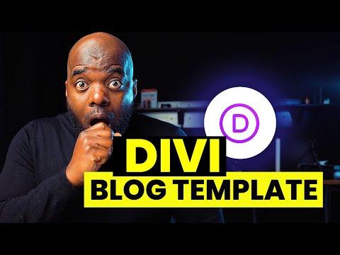 Divi blog post template design using Divi Theme Builder
