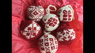 Knitted Christmas Ornaments - Blocking my Julekulers the Norwegian Way