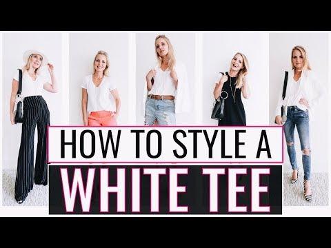 5 Ways to Wear Your Basic White T-Shirt | Styling the Basics #5