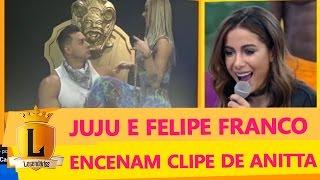 Juju Salimeni estrela clipe sensual de Anitta ao lado de Felipe Franco